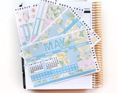 May Monthly Kit - Sea Breeze (stickers for Erin Condren Life Planner)