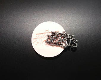 Mold Written Fantastic Beasts (fantastic beasts and where to find them) for polymer clay or resin