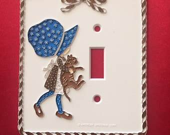 Vintage Holly Hobbie light switch plate cover