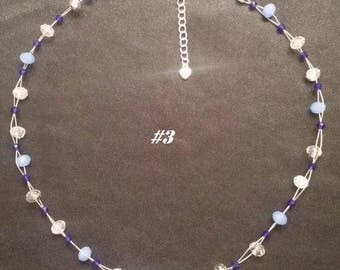 Crystal Glass Floating Necklace