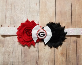 university of Georgia headband-georgia bulldogs headband-Georgia headband-Georgia bulldogs  baby-georgia for baby-georgia bulldogs newborn