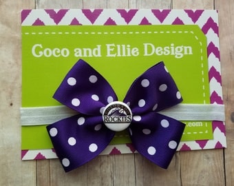 colorado rockies bow headband/rockies bow headband/colorado rockies baby gift/rockies gift for girl/colorado rockies baseball girl