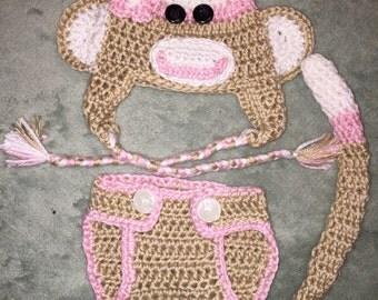 Sock Monkey Photo Prop