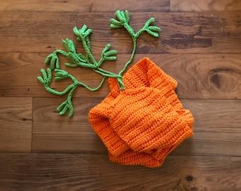 Carrot Long Scarf -- Handmade Crochet