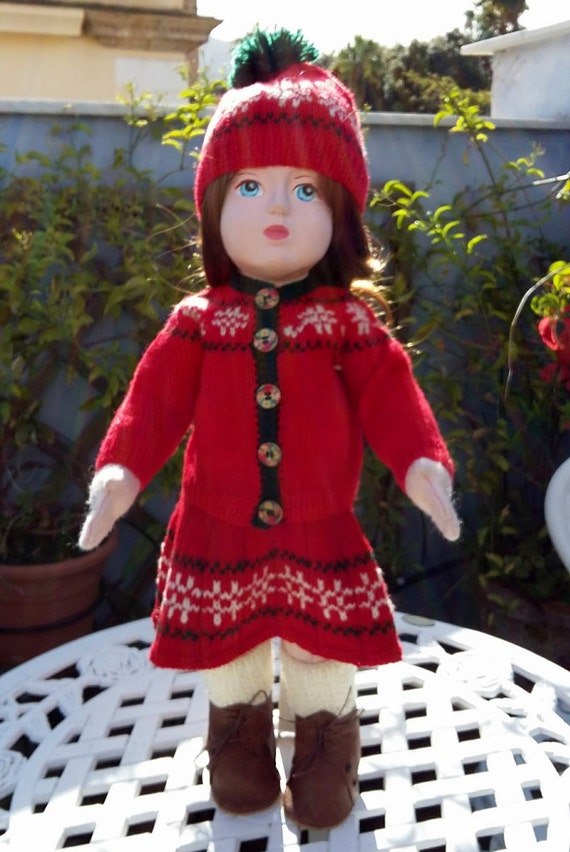 Christmas eve outfit for 18 inch dolls