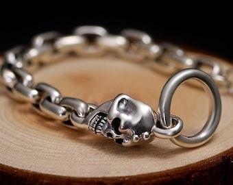 100% 925 Silver Skulls Bracelet | BraceletsDR