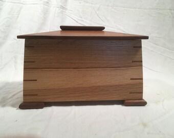 Hardwood Desk/Dresser Box, Heirloom Box, Keepsake Box , Memories Box