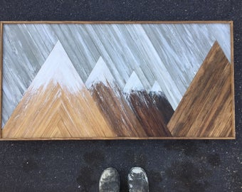 Wood Mountain Art Zion National Park Inspired