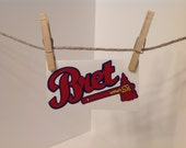 Atlanta Braves, Tomahawk, personalized, high detail decal