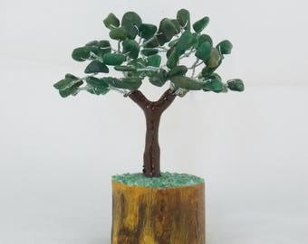 Bonsai Tree, Crystal Tree, Green Aventurine tree, Gem Tree, Chakra Bonsai, Chakra Tree, Feng Shui Tree