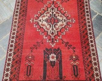 Lovely Traditional Vintage Persian Wool 3.4 X 5.9 Oriental Rug Handmade Carpet Rugs