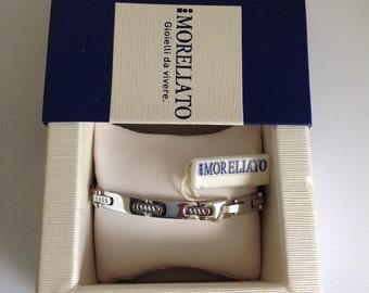 "Morellato Stainless Steel Bracelet, Tennis Bracelet with Palm Tree & Star Accents, Link Bracelet 8"""