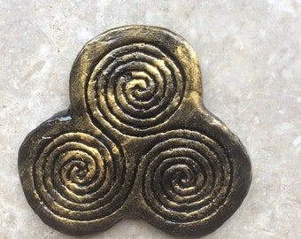 Newgrange Triple Spiral Wall Plaque