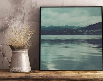 Blue Lake I Artwork - Framed / Unframed canvas / Print