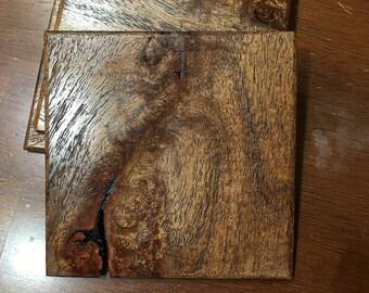 Hardwood Amboyna Drink Coasters