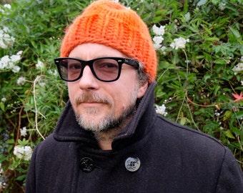 Hand Knitted Beanie - Orange