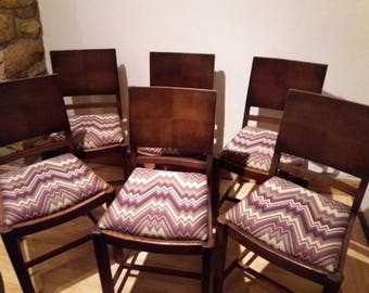 Set of 6 refurbished chairs