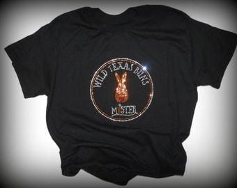 PLUS SIZES - Wild Texas Buns Bling T-shirt - Blingy Bunny T-shirt - Free US Shipping - Bling Shirt - Rabbit Lover Gift - Mister's Garden