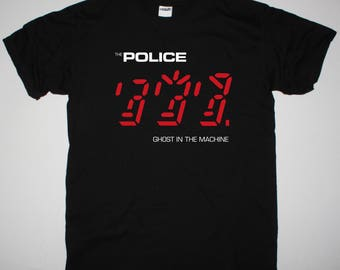 The Police Ghost In The Machine black t shirt