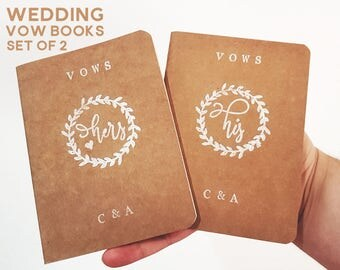 Wedding Vow Books. His & Hers Vow Books. His and His Vow Books. Hers and Hers Vow Books. Personalised Wedding Vow Keepsake. Custom Vow Books