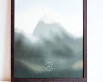 Art print mountains