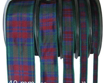 Lindsay Tartan Ribbon - CUT LENGTHS. 7, 10, 16, 25 & 40mm Widths.... (25m Reels also available - pls. see REELS listing)