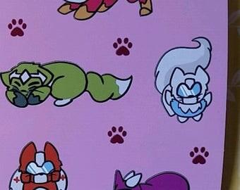 Transformers Catformers Sticker Sheet