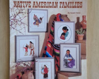 Portrait of Native American Families by Susan Heiss, Native American Cross Stitch, Indians Cross Stitch,