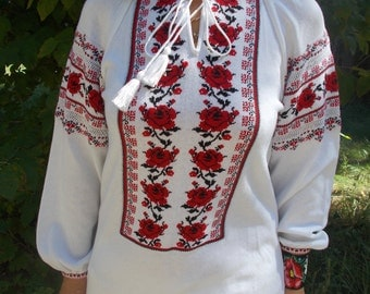 Tunic Knitted blouses knitwear Colorful patterns in the Ukrainian style