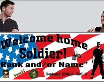 Welcome Home Army , Air Force, Navy, Marines, Large Banner - Customizeable