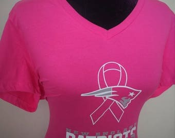 New England Patriots  Breast Cancer Awareness Tee