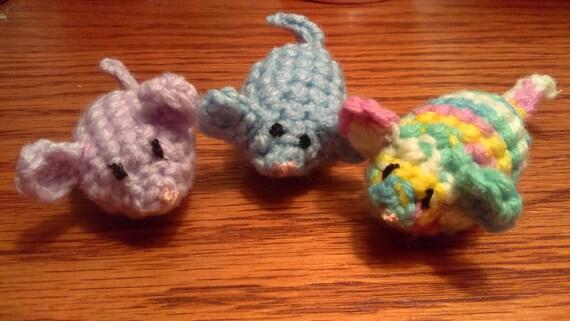 Amigurumi Mouse Cat Toy : Crochet Mice Cat Mice Toys Cat Toys Kitten Toy Amigurumi