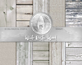 70% OFF White Rustic Wood