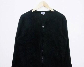 Hot Sale!!! Rare Vintage 90s KENZO HOMME Fleece Zip Jacket Hip Hop Hipster Swag Medium (3) Size