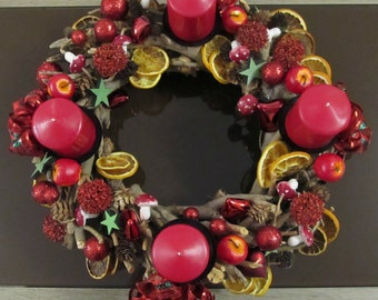 Advent wreath made of wood