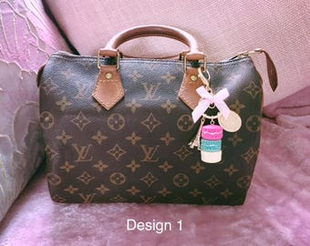 Laduree Inspired Macaroon Eiffel Tower Handbag Charm / Keychain