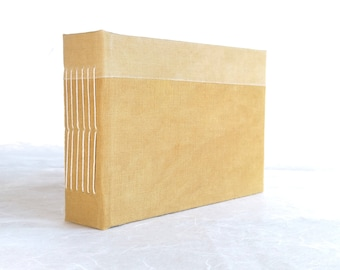 Longstitch handbound watercolor album with geometrical handdyed cover (A6, 11x15 cm 4x6 inch)