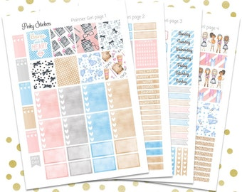 Planner Girl Weekly Kit for Erin Condren   Printable   Includes Blackout Files for Easy Cutlines