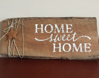 Home Sweet Home, Wood sign, Farmhouse sign, Rustic Decor