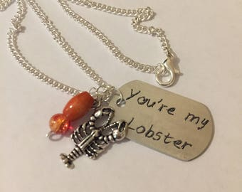 Friends inspired keyring, Phoebe quote keyring, Lobster keychain, Lobster keyring item 481 by CraftyLittleMonkeyGB