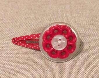 Cute Red Button Hairslide