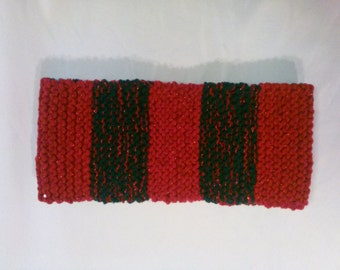 Winter Scarf In Red-Green & Sparkling Sequins.Womans