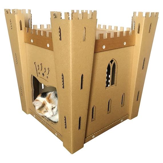 cat 39 s fortress cardboard cat housecat furniturecat. Black Bedroom Furniture Sets. Home Design Ideas