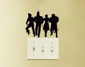 Wizard of Oz Tinman Lion Dorothy Light Switch Vinyl Decal Sticker