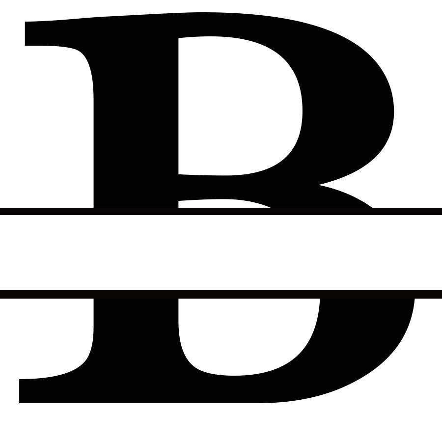 Letter B Monogram Cricut-4644