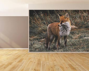 Wall Art Photo of a Fox Wallpaper HUGE