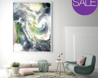 Print on Canvas, Giclée print, Modern art, Abstract Art, large wall art, Reef, Resin art, Abstract art - Wall art, Marble, Canvas Print