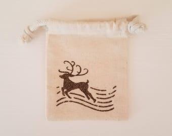 Gift Card Holder- Reindeer Postage