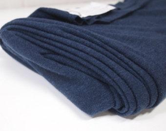 Petrol Blue Knitted Man-Made Lightweight Jersey Fabric
