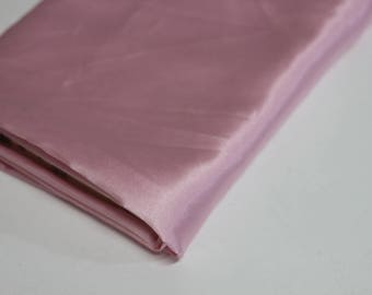 Pink satin polyester fabric - ideal for dressmaking - shiny satin feel